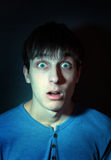 Frightened Man Stock Images