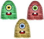 Frightened by the monsters. Royalty Free Stock Image