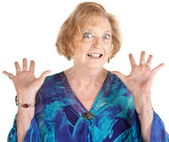 Frightened Senior Female Royalty Free Stock Images