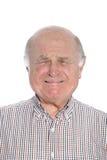Frightened senior man crying, portrait Royalty Free Stock Image