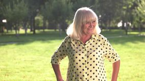 Frightened senior woman. stock footage