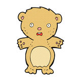 Frightened teddy bear comic cartoon. Frightened teddy bear retro comic book style cartoon Stock Photography
