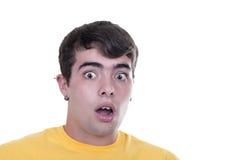 Frightened teenage boy Stock Image