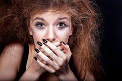 Frightened teenage girl Stock Photography