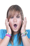 Frightened teenager Royalty Free Stock Photo
