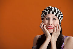 Frightened Woman Royalty Free Stock Image