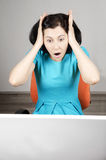 Frightened woman Royalty Free Stock Images