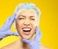 Frightened woman before surgery Royalty Free Stock Image