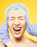 Frightened woman before surgery Royalty Free Stock Photo