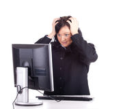 Frightened young, businesswoman Stock Photography