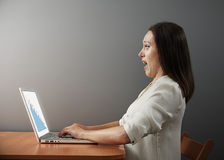 Frightened young businesswoman Royalty Free Stock Image