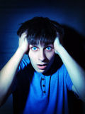 Frightened Young Man Royalty Free Stock Images