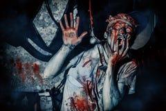 Frightened zombie man Stock Image