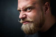Frightening bearded man Royalty Free Stock Photos