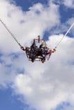 Frightening bungee revolutions at Oktoberfest, Stuttgart Stock Photo