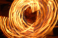 Frightening circle of fire. An effective circle of burning fire Royalty Free Stock Photography