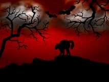 Frightening halloween night Royalty Free Stock Images