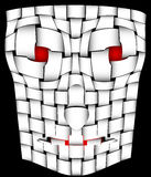 Frightening mask. Vector illustration of the ghostly face - mummy Royalty Free Stock Photos