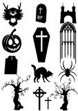 Frightening stuff. Set of items on a halloween theme Stock Image