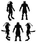 A frightening werewolf vector silhouette Stock Image