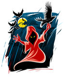 Frightful halloween midnight ghost. Illustration Stock Image