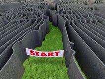 Frightful maze Stock Photo