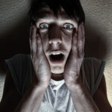 Frightful Young Man Stock Photography