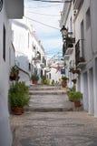 Frigiliana è un vecchio villaggio di moresco sopra Nerja su Costa del Sol in Spagna del sud Immagine Stock
