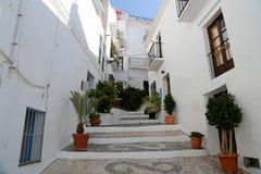 Frigiliana-- is één van mooie witte steden in de provincie van Malaga, Andalusia, Spanje Royalty-vrije Stock Fotografie