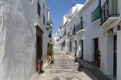 Frigiliana-- είναι μια από τις όμορφες άσπρες πόλεις στην επαρχία της Μάλαγας, Ανδαλουσία, Ισπανία Στοκ φωτογραφίες με δικαίωμα ελεύθερης χρήσης