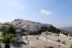 Frigiliana-- είναι μια από τις όμορφες άσπρες πόλεις στην επαρχία της Μάλαγας, Ανδαλουσία, Ισπανία Στοκ Φωτογραφία