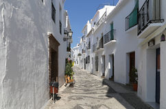 Frigiliana-- is one of beautiful white towns in the province of Malaga, Andalusia, Spain Royalty Free Stock Photos