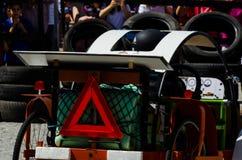 FRIGILIANA, SPAGNA - 13 maggio 2018 ` di Locos delle automobili del ` - divertimento tradizionale che comprende il giro delle aut fotografie stock