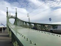 Frihet överbryggar, Budapest, Ungern royaltyfria bilder