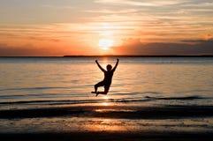 frihet hoppar Royaltyfri Foto