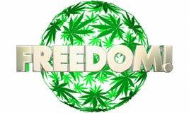 Frihet Liberty Marijuana Leaf Ball Sphere Royaltyfri Foto