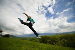 Frihet och lycka Fotografering för Bildbyråer