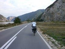 Frihet på en cykel Royaltyfri Foto