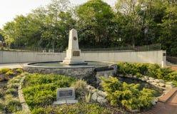 Frihet parkerar, Fayetteville den norr Carolina-28 mars 2012: Parkera hängivet till Cumberland County krigsmaktveteran Arkivbild