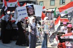 frihet samlar syrianska toronto Arkivfoto
