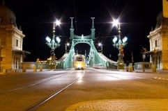 Frihetbro, Budapest royaltyfri bild