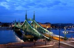 Frihetbro i Budapest Royaltyfri Fotografi