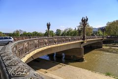 Frihetsbro i Skopje Arkivfoto