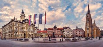 Frihetsfyrkant i Novi Sad Fotografering för Bildbyråer