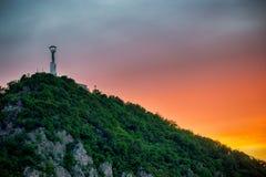 Frihetstaty av Budapest Royaltyfria Foton
