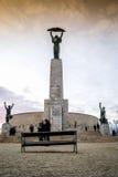 Frihetstaty på den Gellert kullen i Budapest, Ungern Arkivfoto