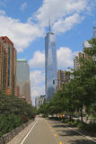Frihetstorn i lägre Manhattan Arkivbild