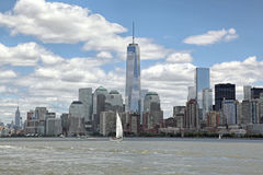 Frihetstorn WTC, Lower Manhattan Arkivbilder