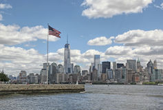 Frihetstorn WTC, Lower Manhattan Royaltyfri Foto