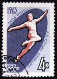 Friidrott serie`en den 3rd internationella Spartakiad `en, circa 1963 Royaltyfria Bilder